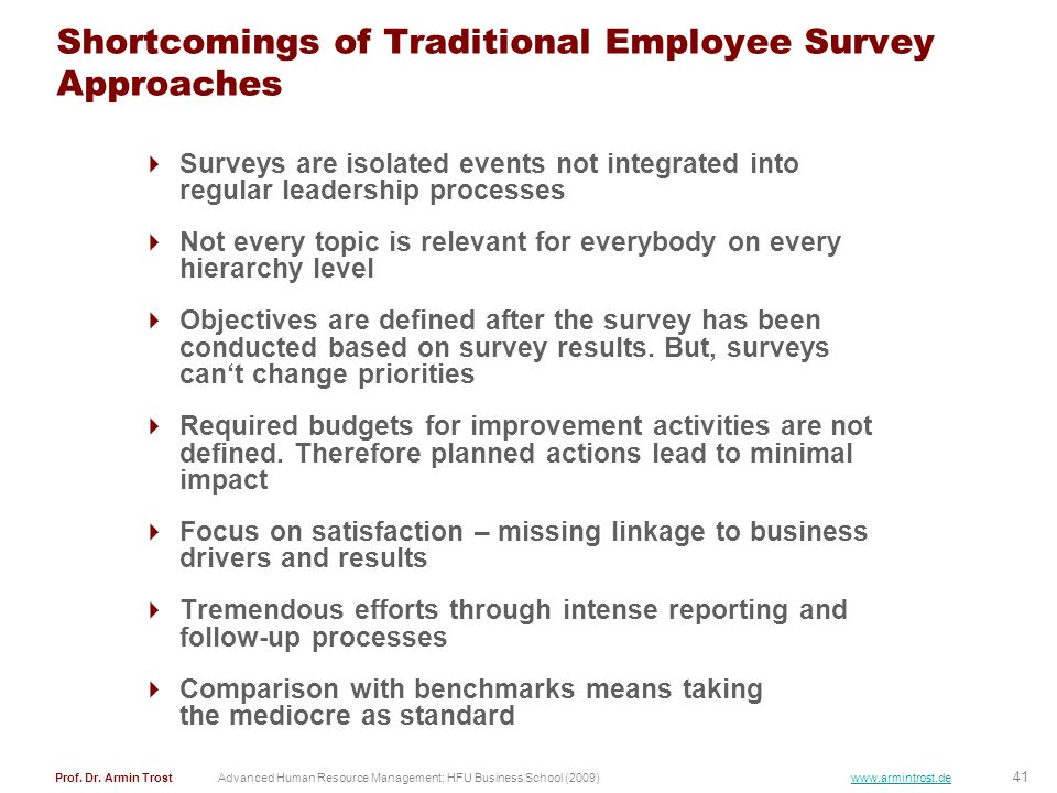 Shortcomings of Traditional Employee Survey Approaches