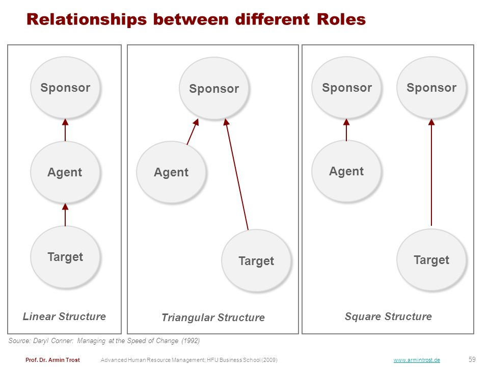 Relationships between different Roles
