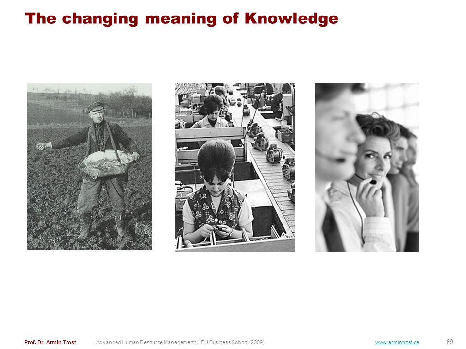 The changing meaning of Knowledge