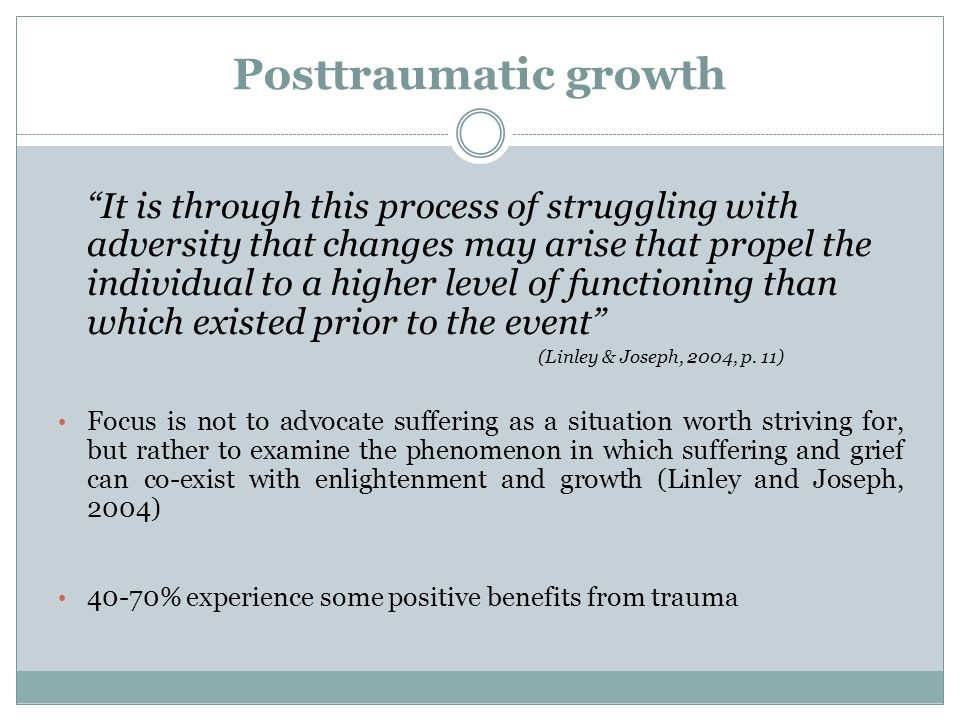 Posttraumatic growth