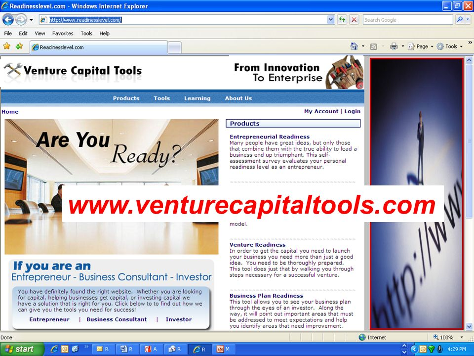 You will find all of the tools available at www. Venture capital tools . Com.