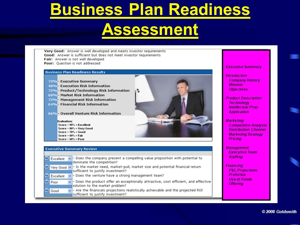 Business Plan Readiness Assessment
