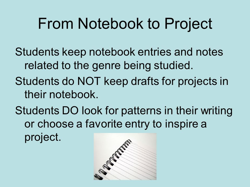 From Notebook to Project
