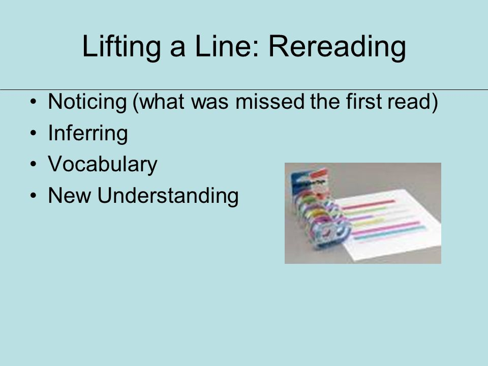 Lifting a Line: Rereading