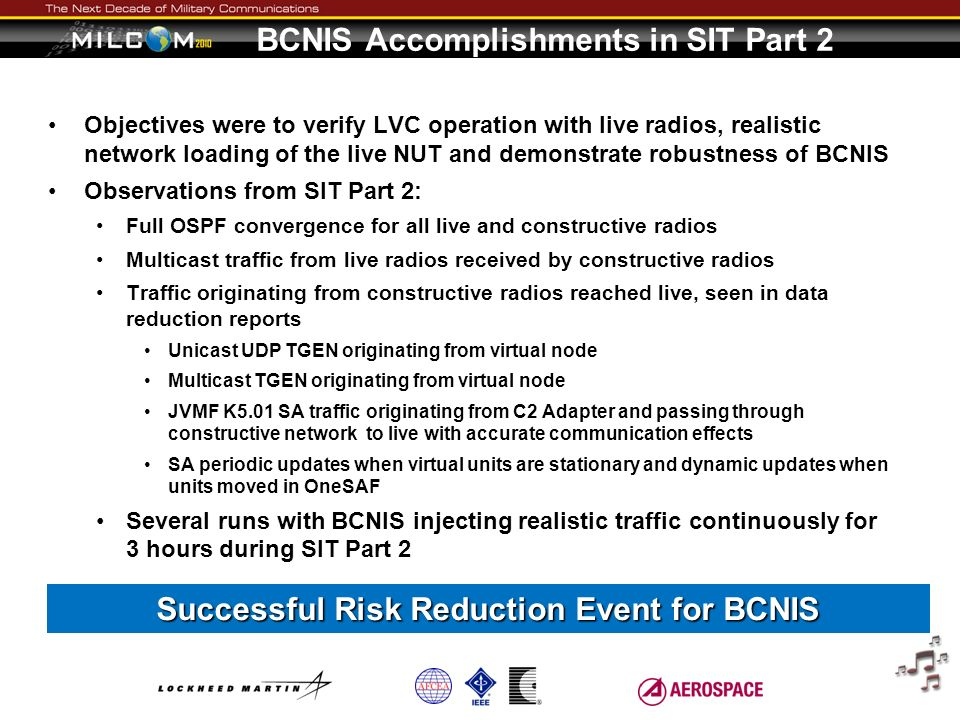 BCNIS Accomplishments in SIT Part 2