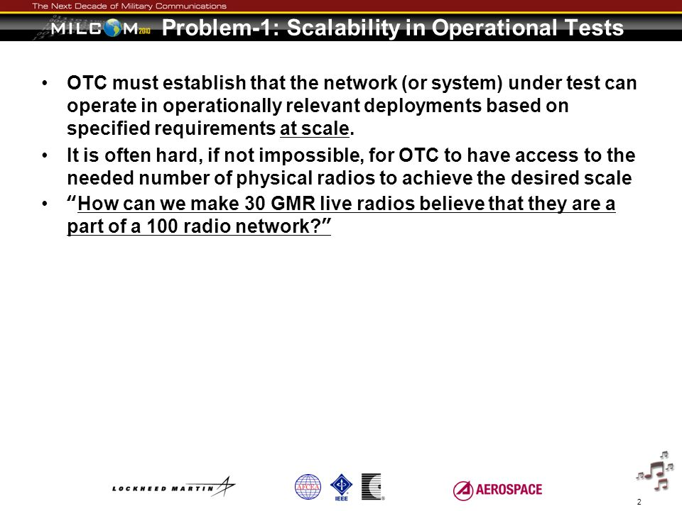 Problem-1: Scalability in Operational Tests