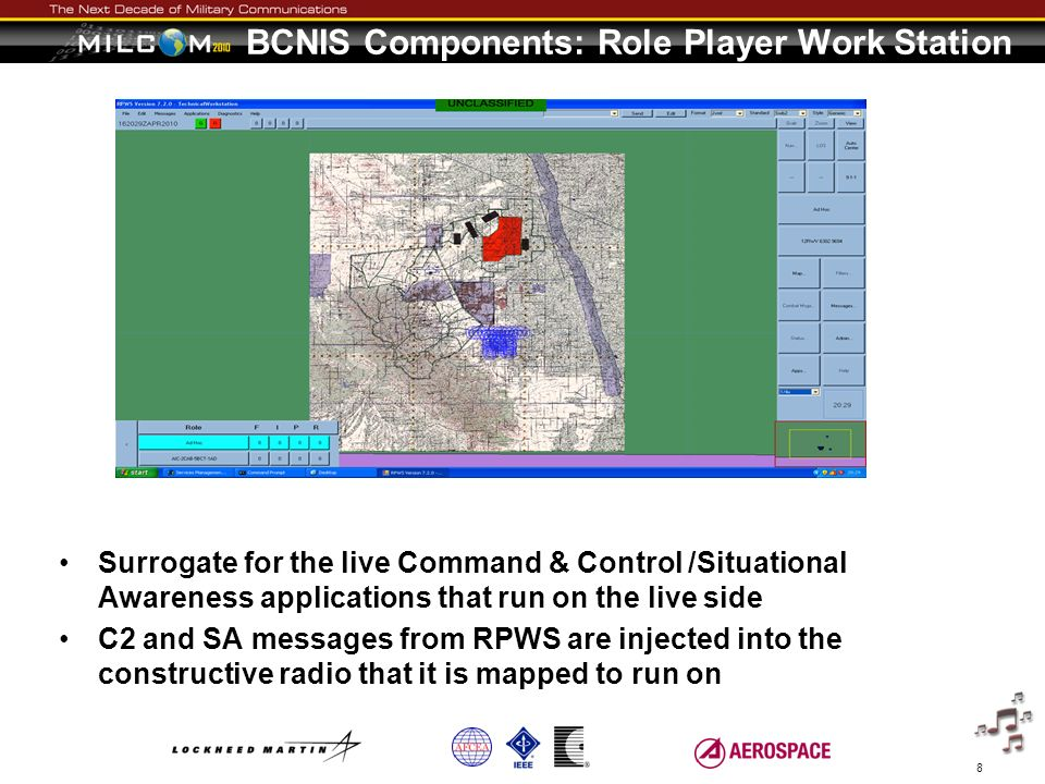 BCNIS Components: Role Player Work Station