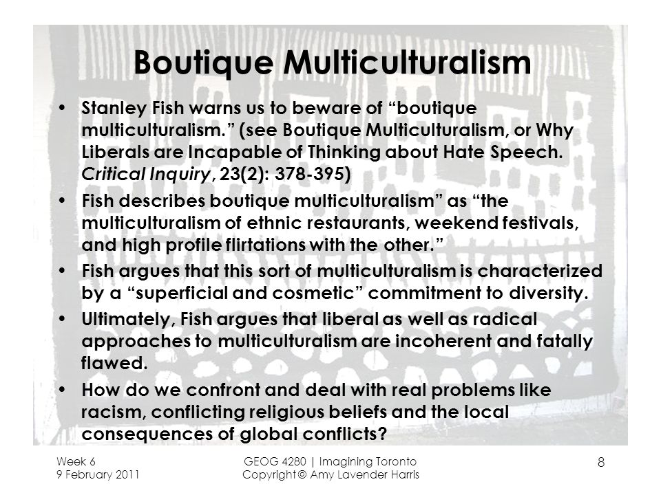 Boutique Multiculturalism