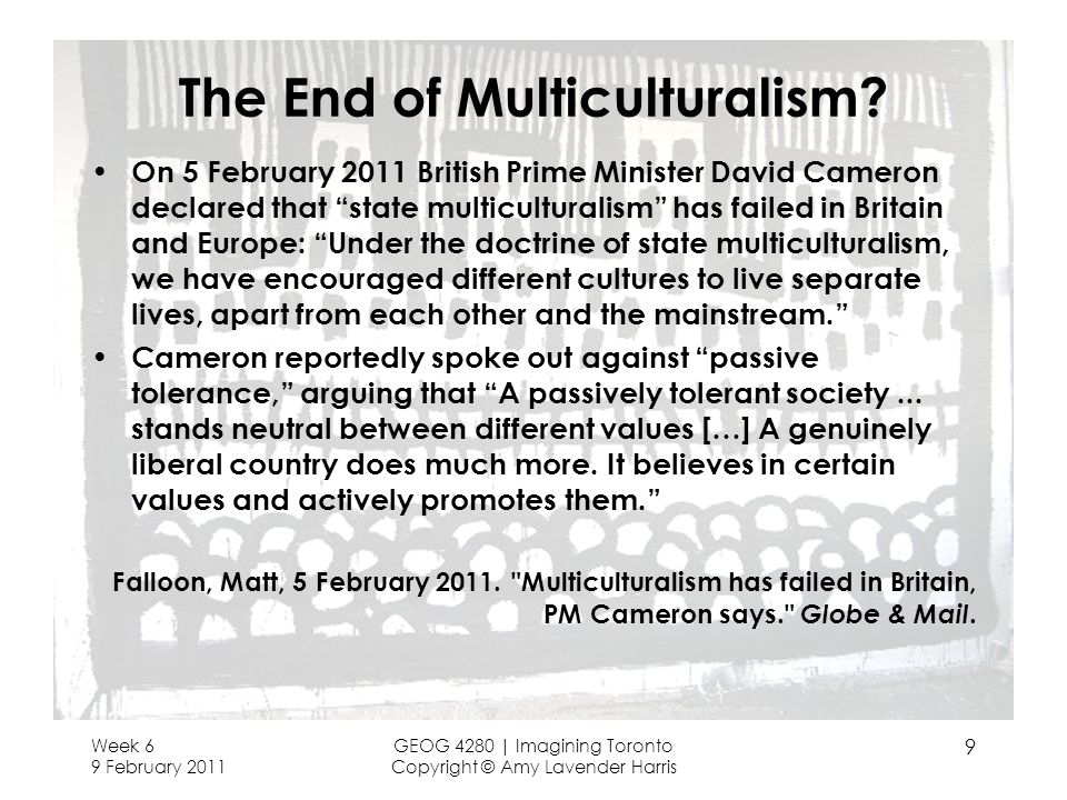 The End of Multiculturalism