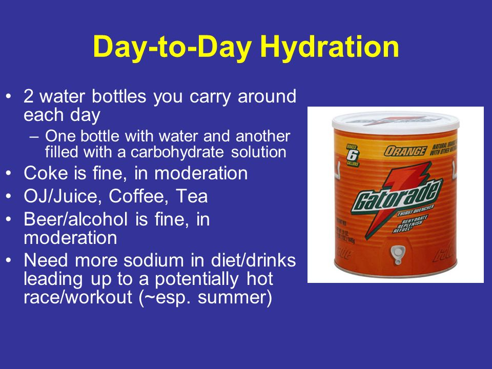 Day-to-Day Hydration 2 water bottles you carry around each day