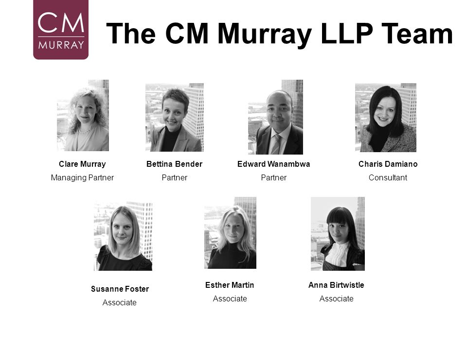 The CM Murray LLP Team Clare Murray Managing Partner Bettina Bender