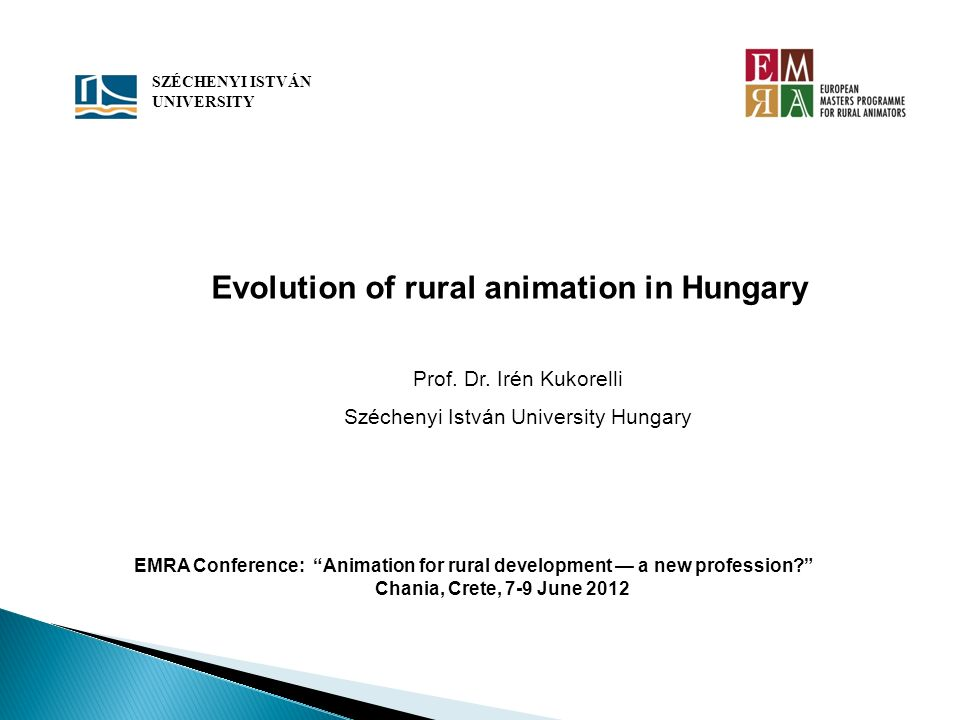 Evolution of rural animation in Hungary