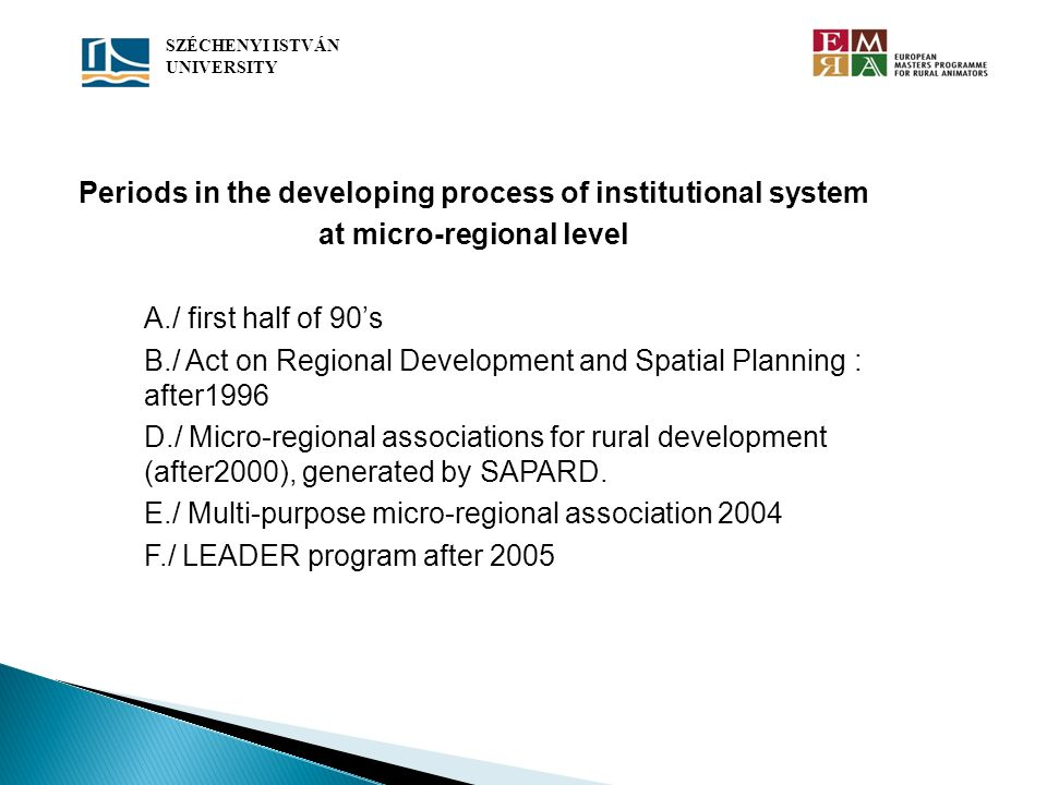 Periods in the developing process of institutional system