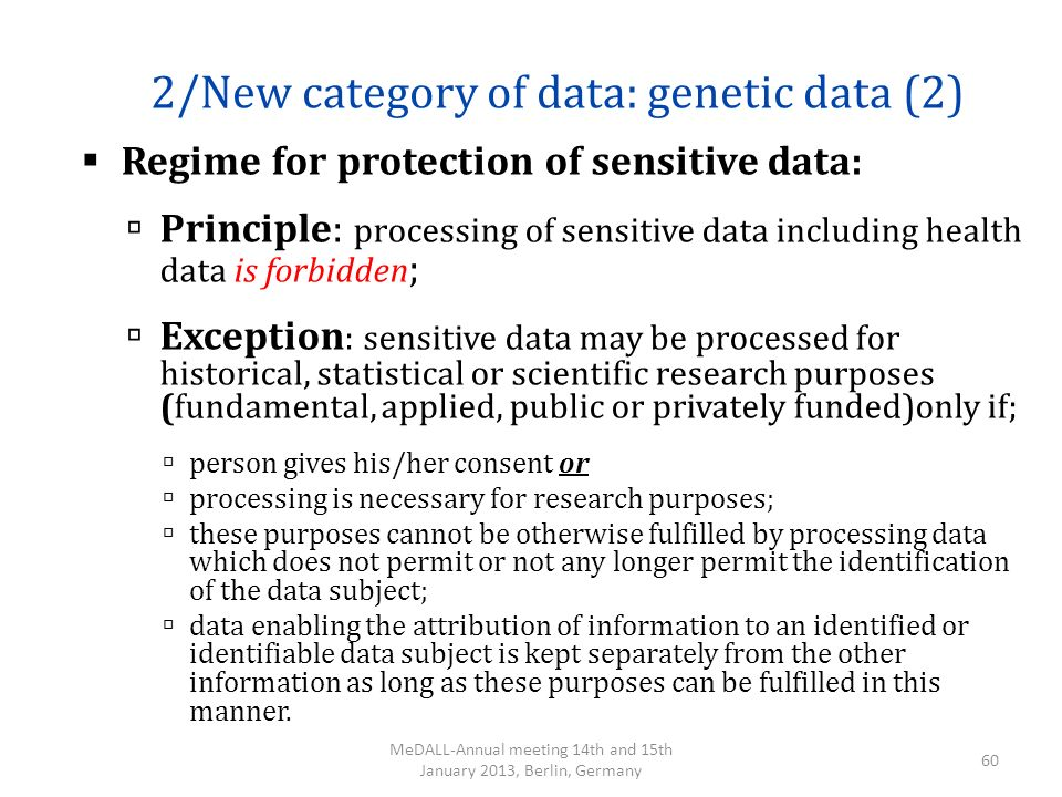 2/New category of data: genetic data (2)