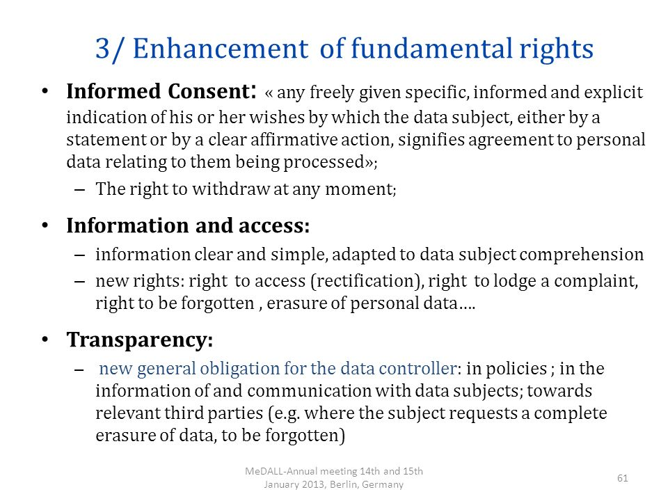 3/ Enhancement of fundamental rights