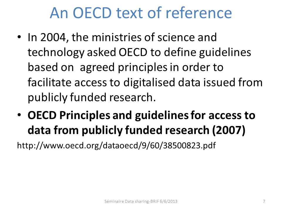 An OECD text of reference