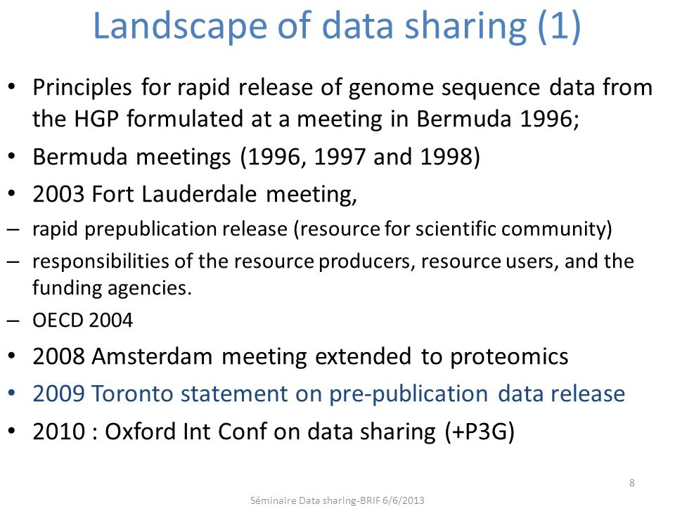 Landscape of data sharing (1)