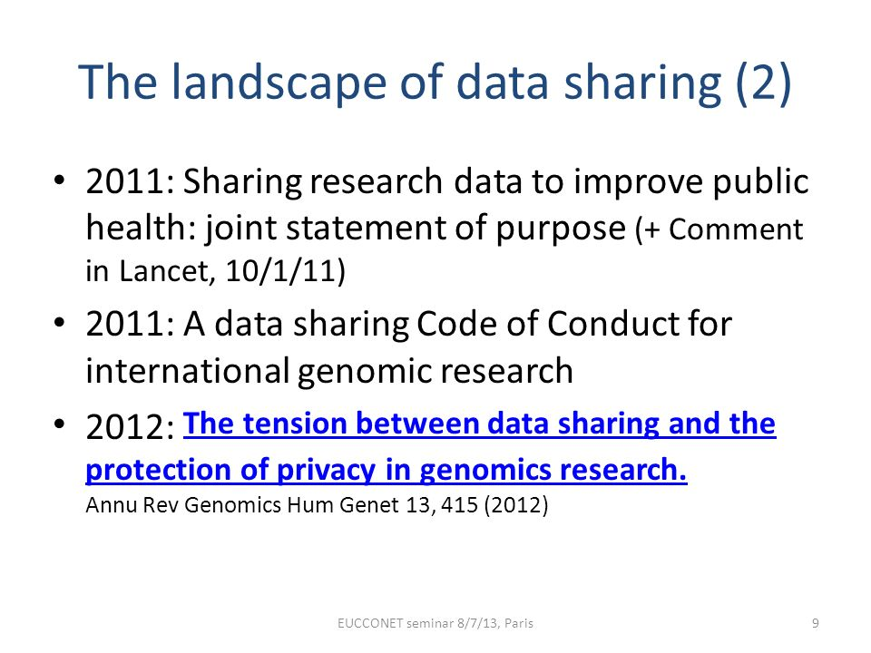 The landscape of data sharing (2)