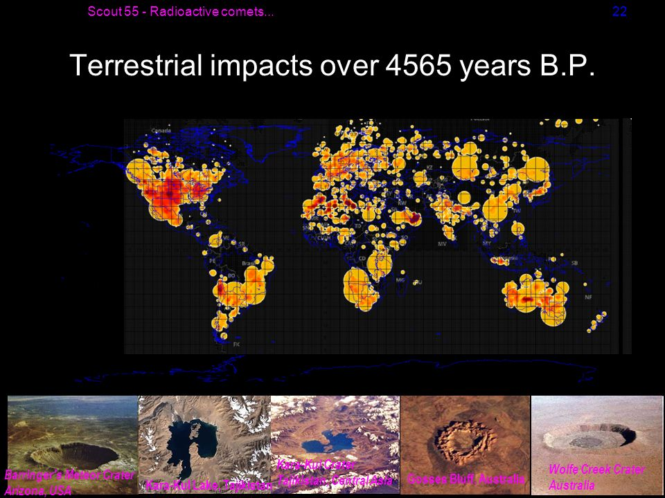 Terrestrial impacts over 4565 years B.P.