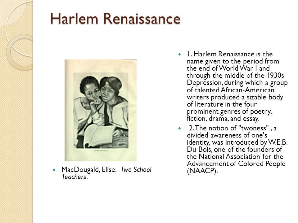 Harlem Renaissance MacDougald, Elise. Two School Teachers.