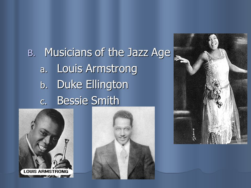 Musicians of the Jazz Age