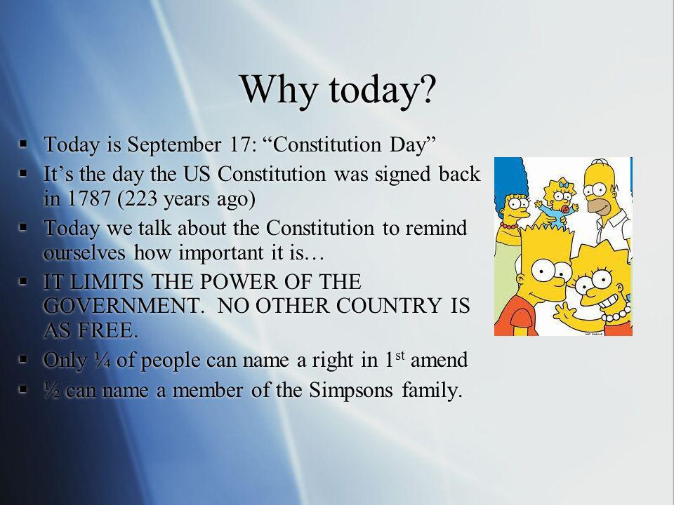 Why today Today is September 17: Constitution Day