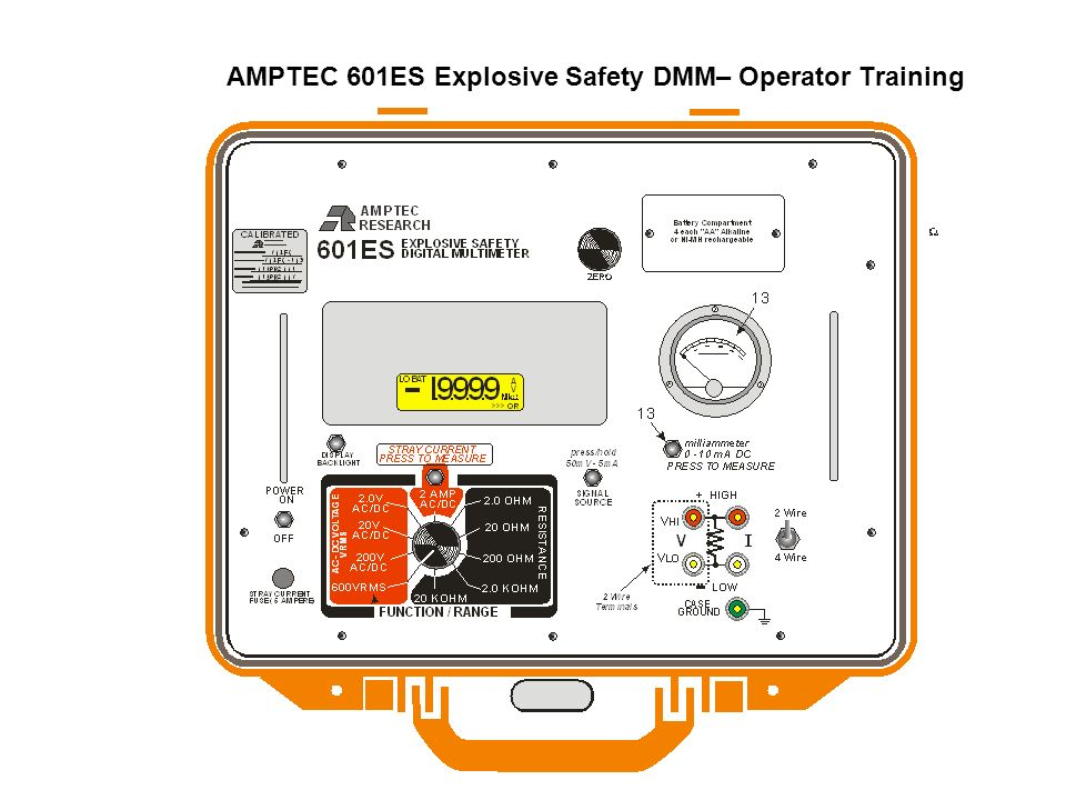 AMPTEC 601ES Explosive Safety DMM– Operator Training