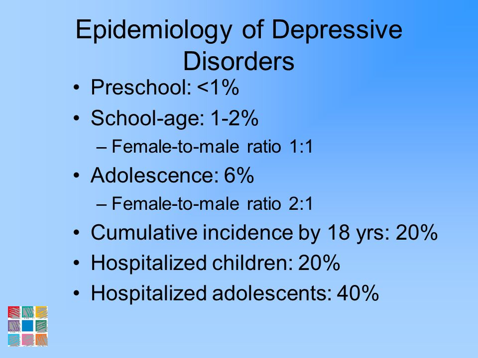 Epidemiology of Depressive Disorders