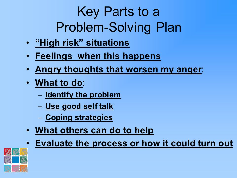 Key Parts to a Problem-Solving Plan