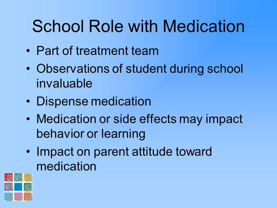 School Role with Medication