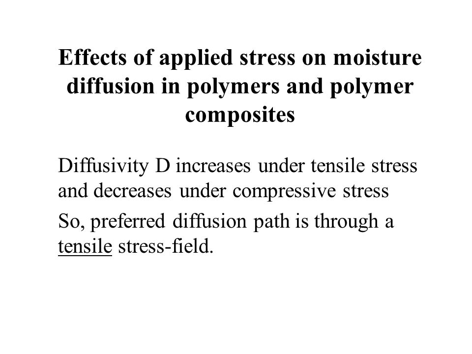 Effects of applied stress on moisture diffusion in polymers and polymer composites