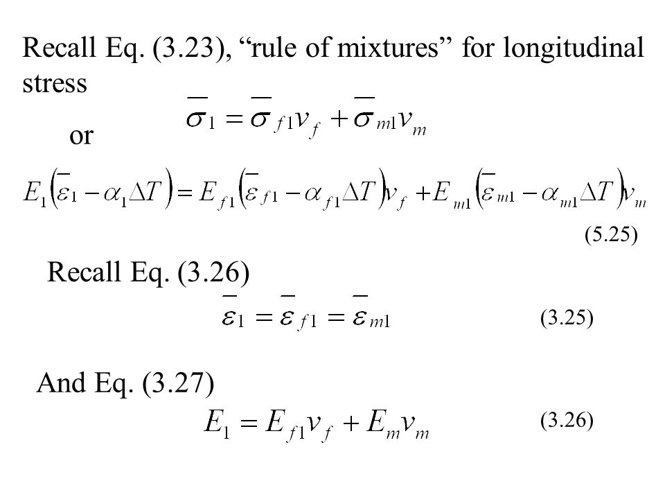 Recall Eq. (3.23), rule of mixtures for longitudinal stress