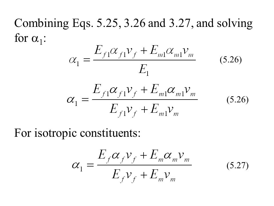 Combining Eqs. 5.25, 3.26 and 3.27, and solving for 1:
