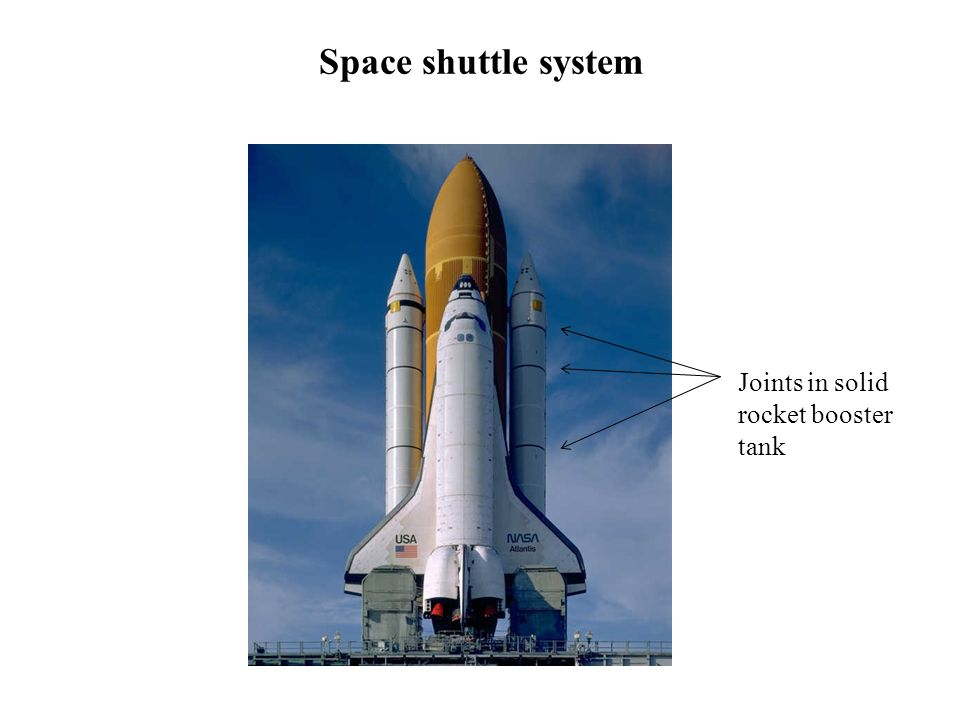 Space shuttle system Joints in solid rocket booster tank