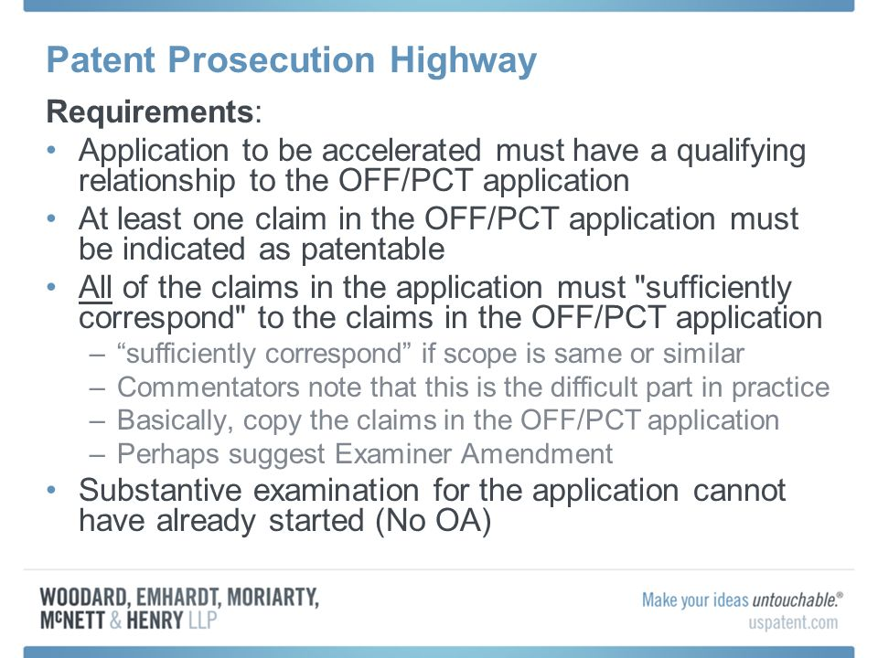 Patent Prosecution Highway