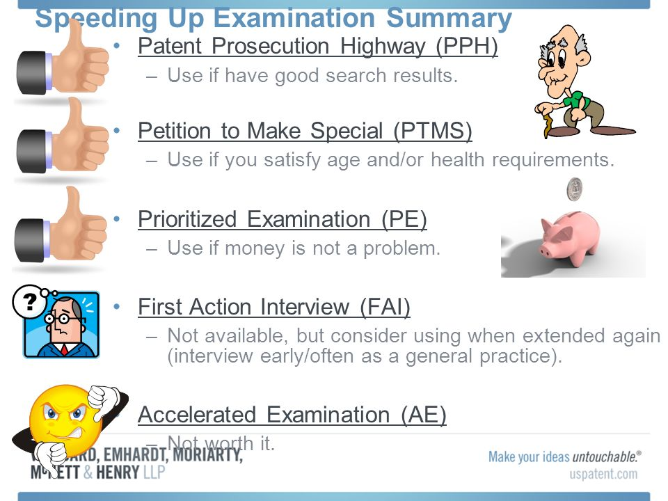 Speeding Up Examination Summary