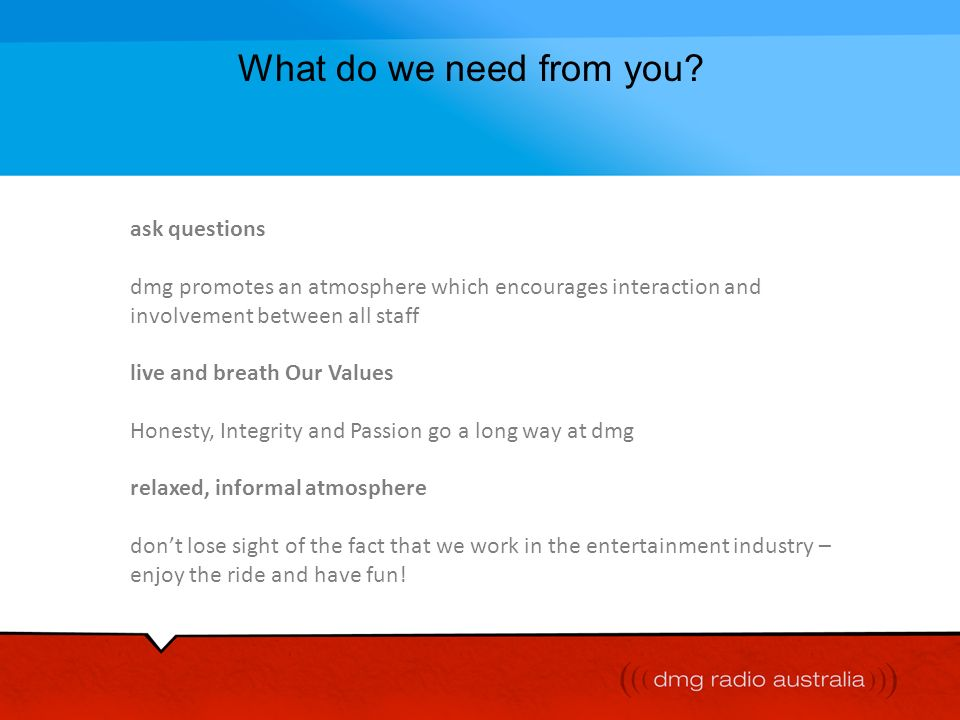 What do we need from you ask questions