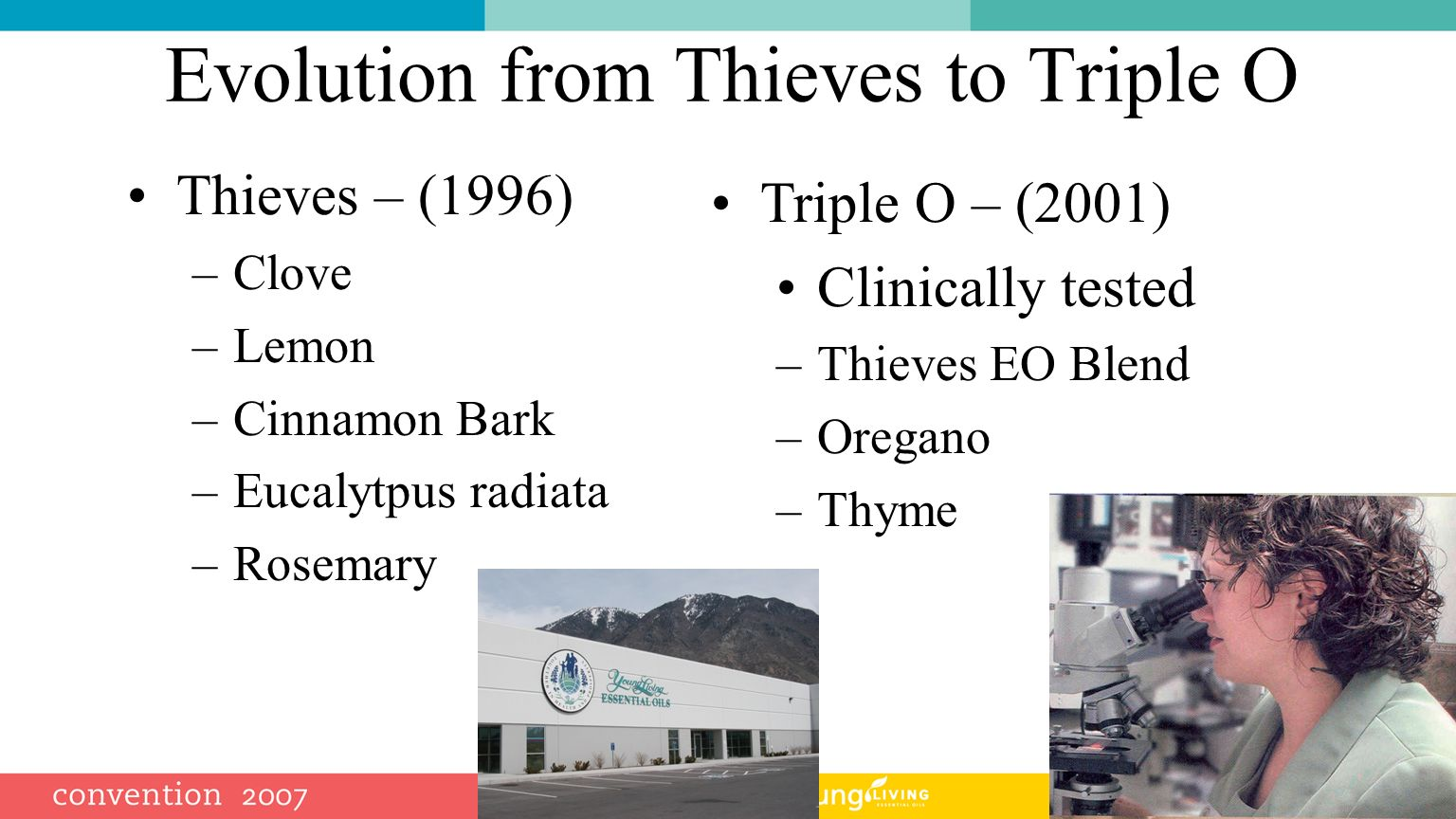 Evolution from Thieves to Triple O