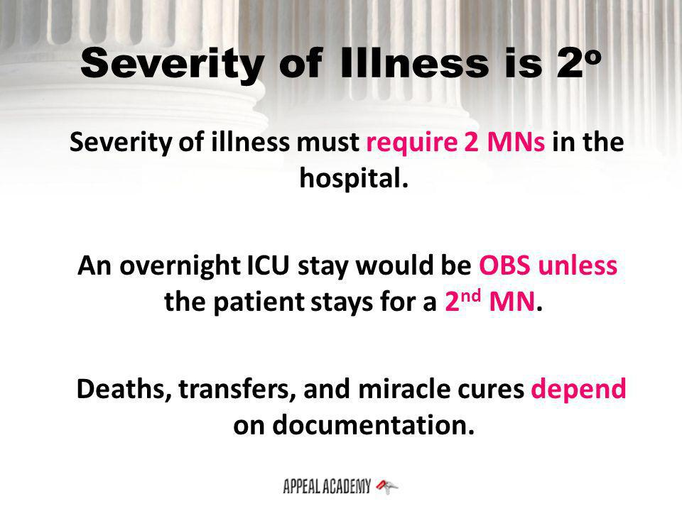 Severity of Illness is 2o