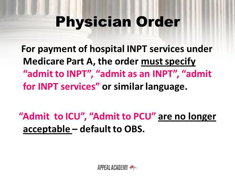 Physician Order