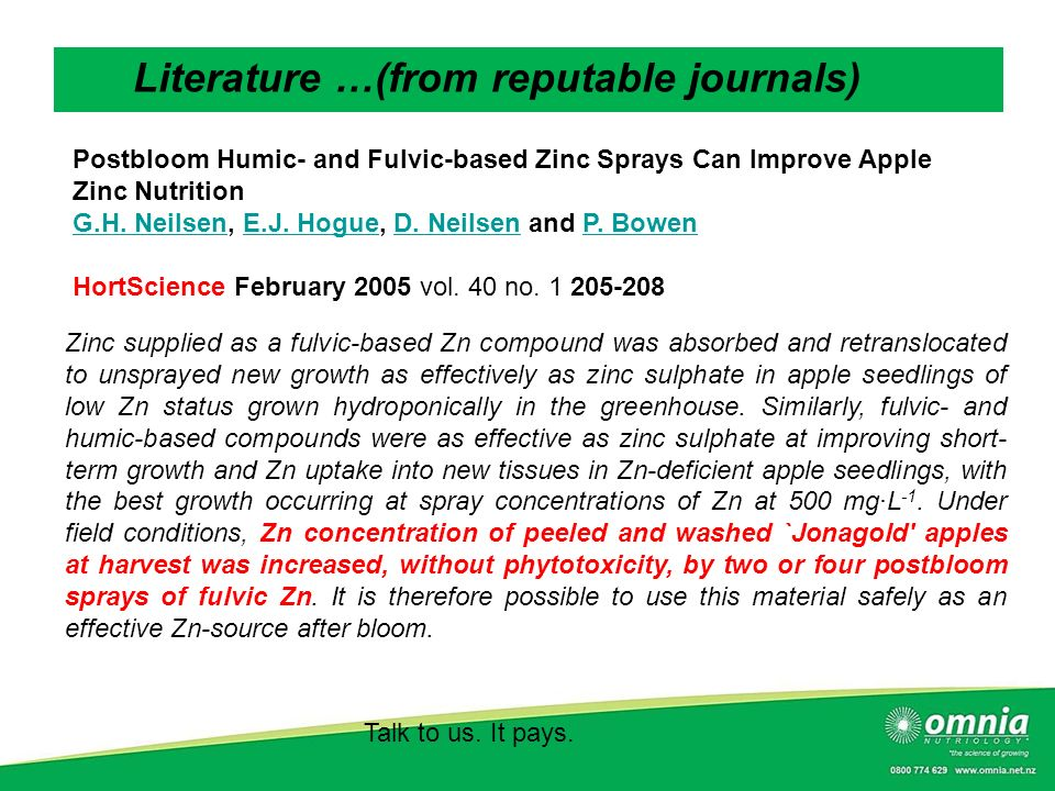 Literature …(from reputable journals)