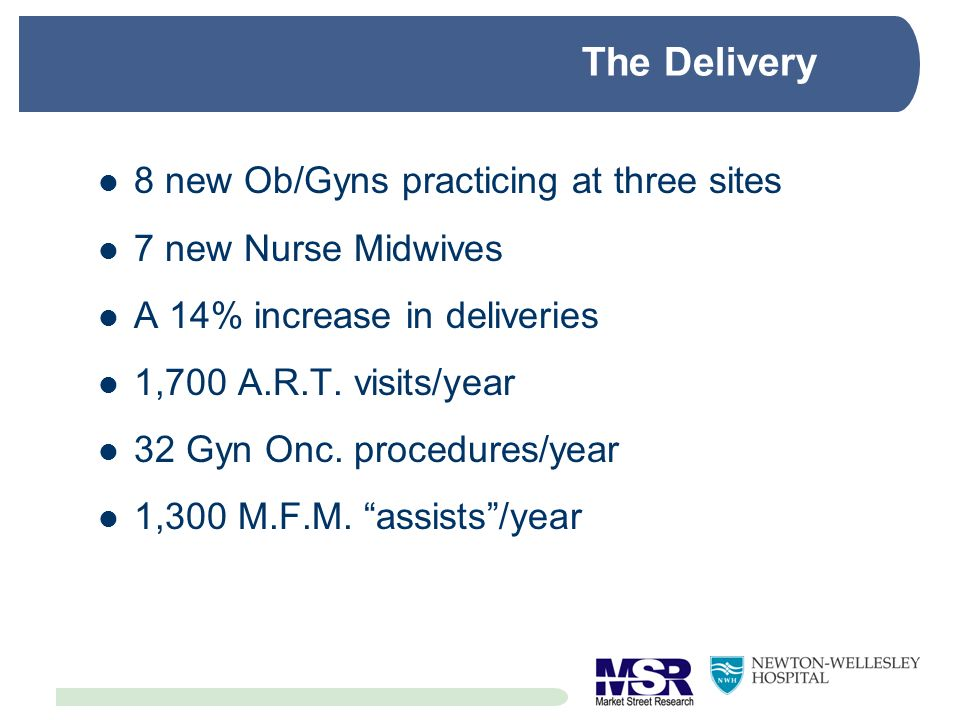 The Delivery 8 new Ob/Gyns practicing at three sites