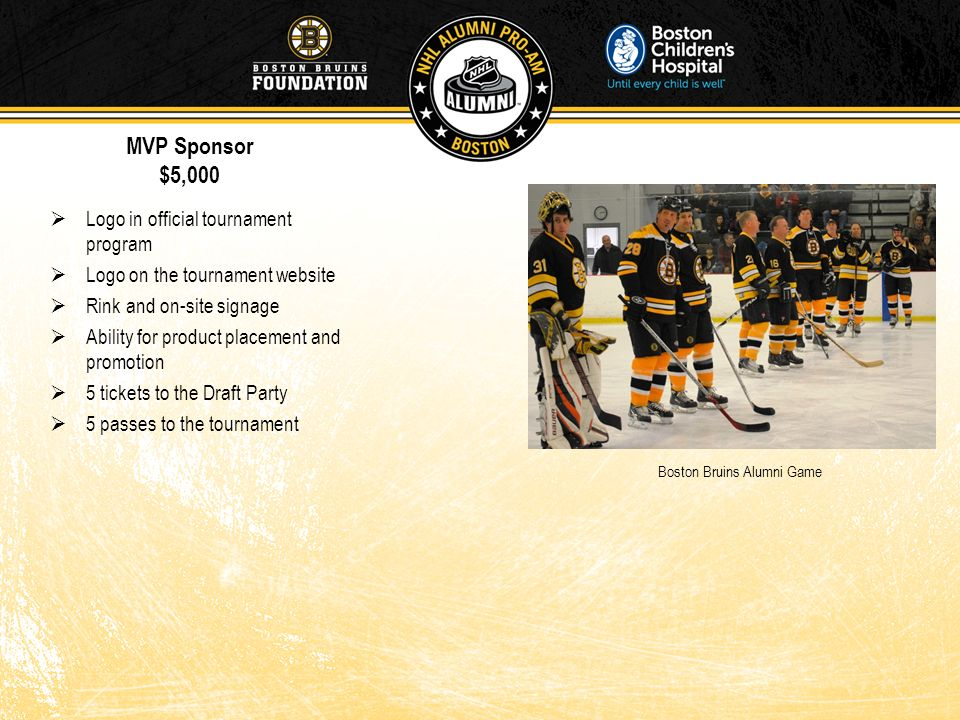 MVP Sponsor $5,000 Logo in official tournament program