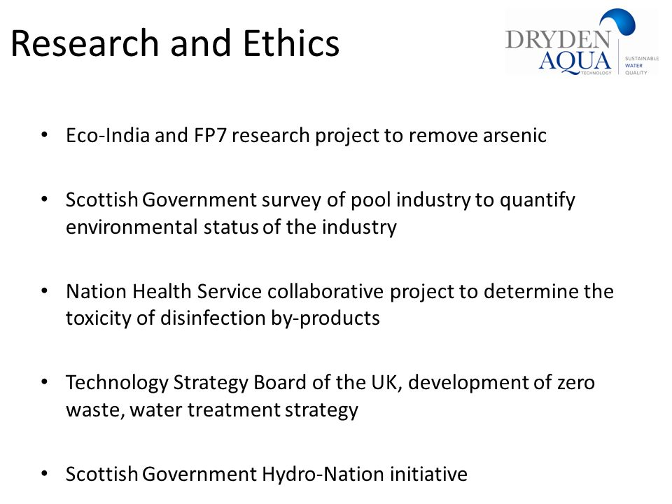 Research and Ethics Eco-India and FP7 research project to remove arsenic.
