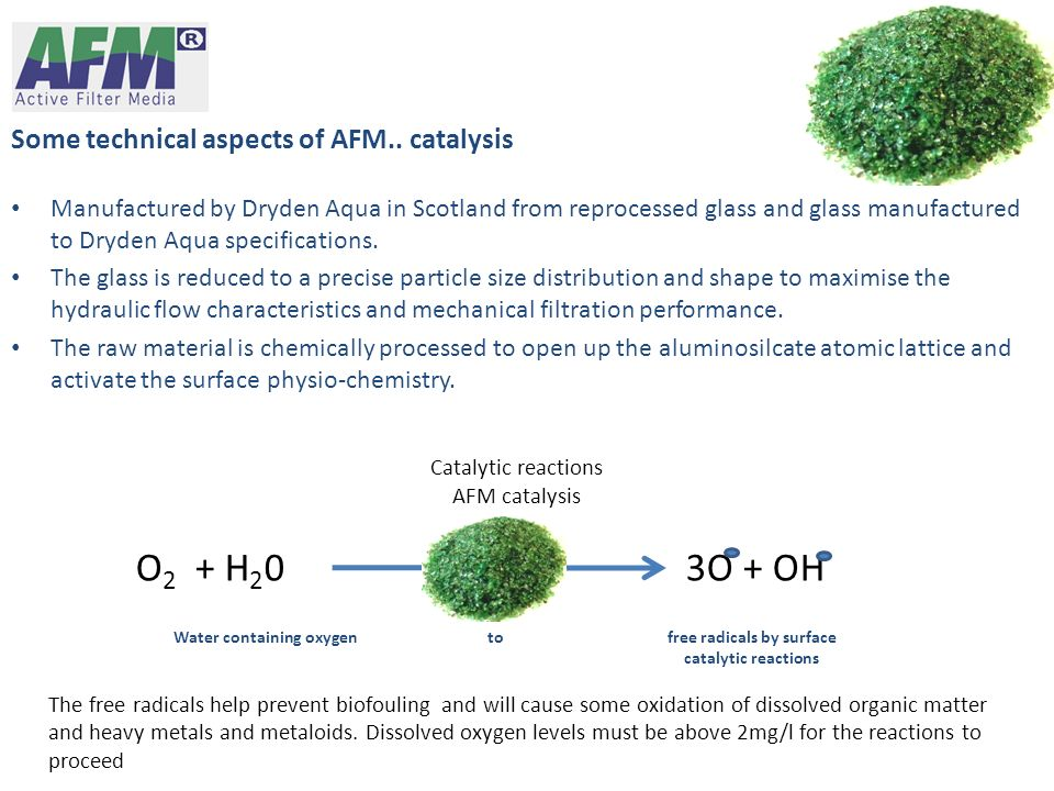 O2 + H20 3O + OH Some technical aspects of AFM.. catalysis