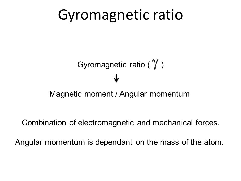Gyromagnetic ratio