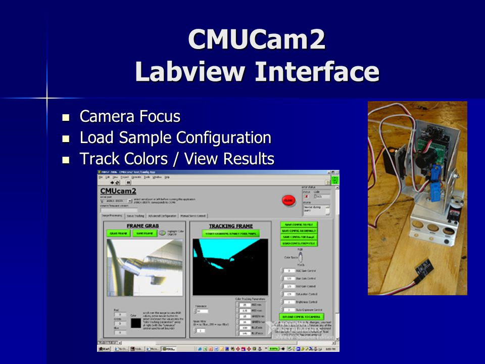 CMUCam2 Labview Interface