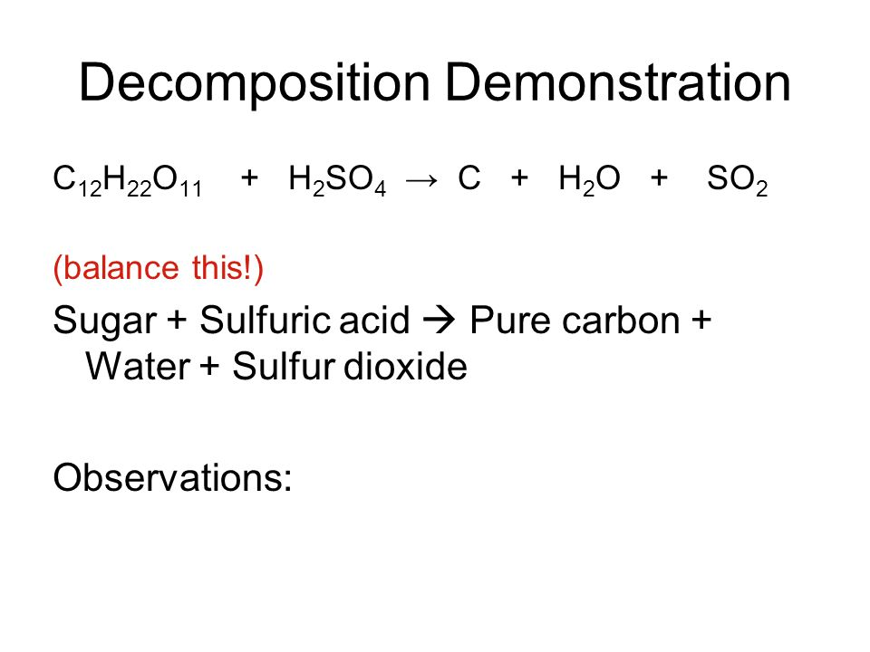 Decomposition Demonstration