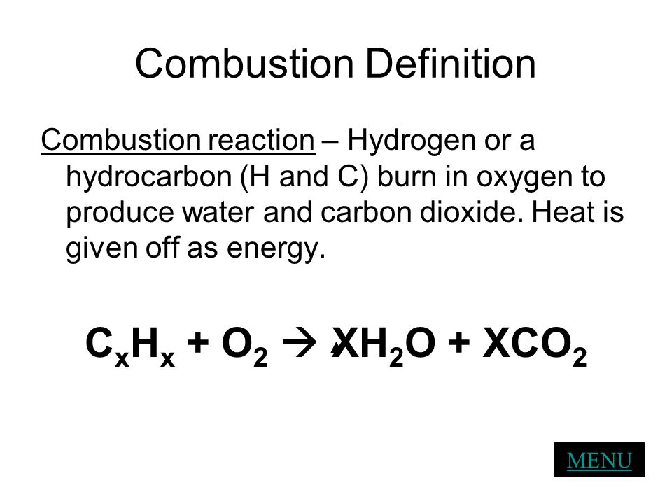 Combustion Definition
