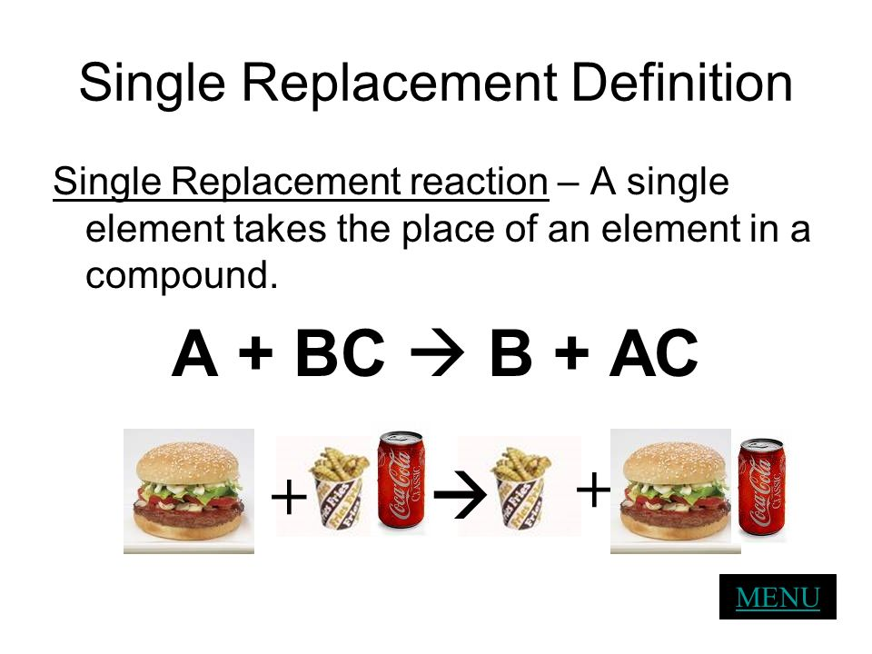 Single Replacement Definition